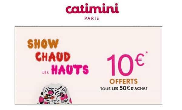 10€ Offerts Tous Les 50€ D'achat Sur Catimini