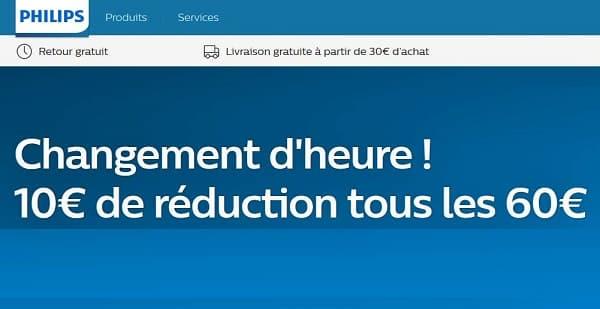10€ Tous Les 60€ D'achat Sur La Boutique Philips