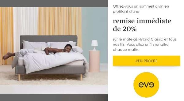 20% De Remise Sur Le Matelas Hybrid Classic Eve Matelas