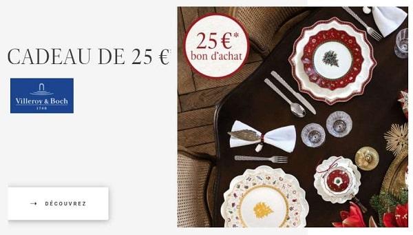 25€ De Remise Sur Villeroy & Boch Dès 125€ D'achat