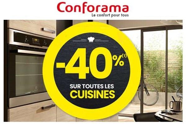 40% De Reduction Sur Toutes Les Cuisines Conforama
