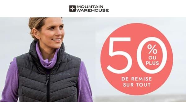 50% De Remise Sur Tous Les Articles Sur Le Site Mountain Warehouse