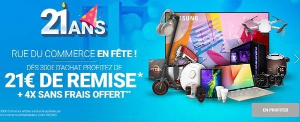 Anniversaire Rue Du Commerce 21€ De Remise Dès 300€