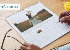 Calendrier photo A4 13 pages gratuit avec Photobox (hors 4,95€ de frais de port)