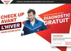 Gratuit : Check-up avant hiver de votre voiture avec 30 points de contrôles offert dans les garages du réseau AD
