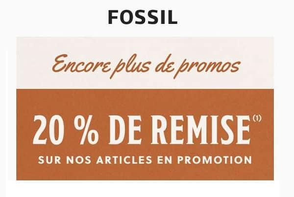 Code Promo Reduction De 20% Supplémentaire Sur Les Promotions Fossil