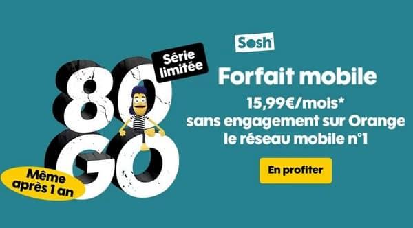 Forfait Sosh 80go SÉrie LimitÉe