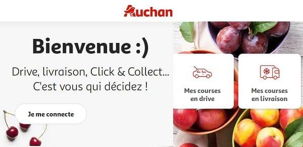 nouveau client auchan (drive, livraison, click & collect)
