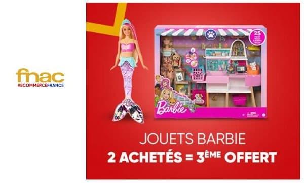 offre barbie fnac 2 barbie achetées = la troisième offerte