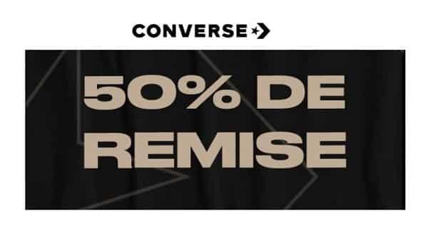 Offre Flash Converse 50% De Remise Sur Une Sélection D'articles