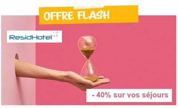 Offre Flash Residhotel 40% De Remise Sur La Réservation De Séjours