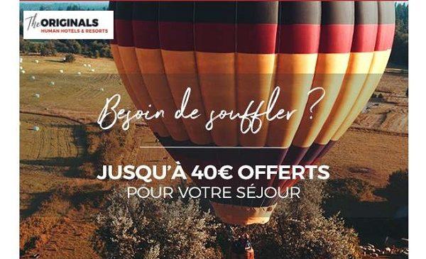 Offre Spéciale De 20€ à 40€ Remise Sur Votre Nuit Dans Un Hôtel The Originals