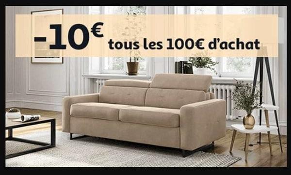 Univers Meuble Auchan 10€ De Remise Tous Les 100€ D'achat Sur Les Meubles Et La Literie