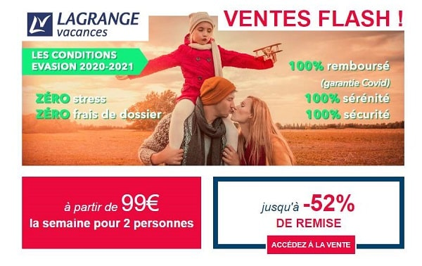 Ventes Flash Toussaint Vacances Lagrange
