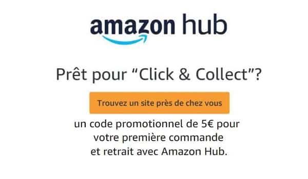 Commande Retirée En Point Retrait Amazon Hub 5€ De Remise