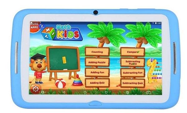 Tablette Enfant 7 Pouces Beneve Avec Activités, Jeux Et Contrôle Parental Iwawa