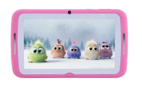 Tablette Enfant 7 Pouces Beneve Rose Avec Activités, Jeux Et Contrôle Parental Iwawa Et Coque Silicone