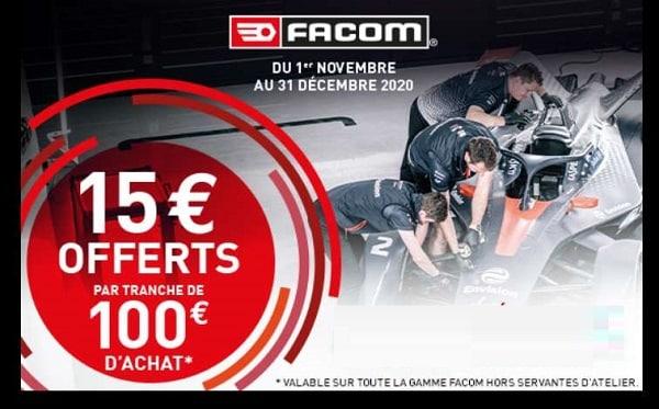 15€ Par Tranche De 100€ D'achat D'un Ou Plusieurs Produits De La Marque Facom