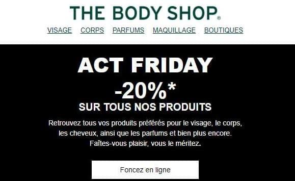 20% De Remise Sur Quasiment Tous Les Articles Sur The Body Shop