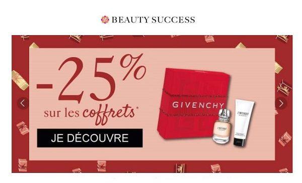25% De Reduction Sur Tous Les Coffrets Parfum Sur Beauty Success