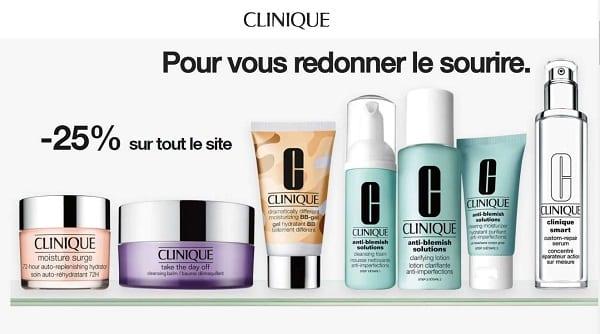 25% De Remise Sur Tout Le Site Clinique