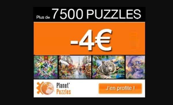 4€ De Réduction Sur Tout Le Site Planet'puzzles