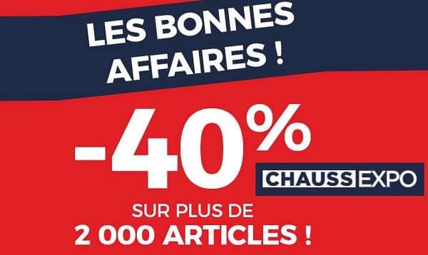 40% Sur Toute La Boutique Bonnes Affaires Chaussexpo