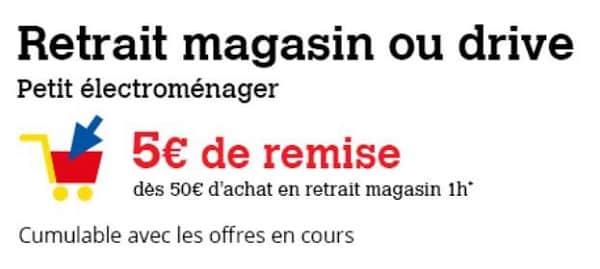 5€ Sur L'achat De Petit électroménager Avec Retrait Magasin Ou Drive Darty