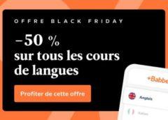 50 % de réduction sur tous les cours de langue Babbel !