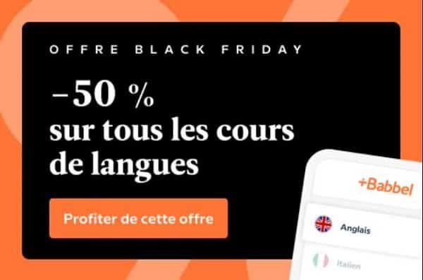 50 % De Réduction Sur Tous Les Cours De Langue Babbel