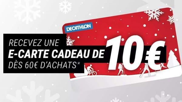 60 Euros D'achat Sur Décathlon = Une Carte Cadeau De 10 Euros