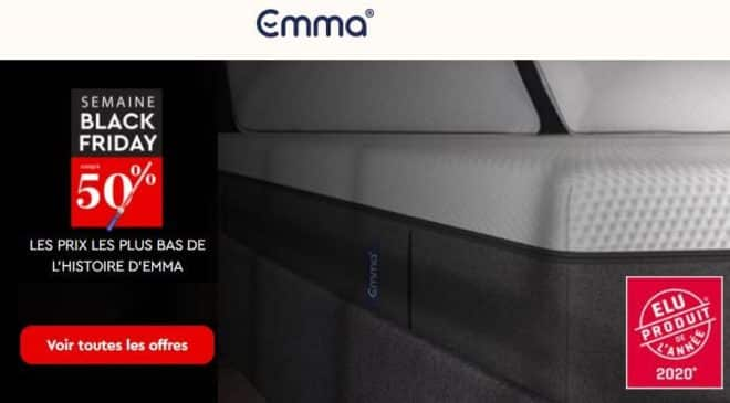 Achetez votre matelas Emma vraiment pas cher avec le Black Friday (de -40% à -50%) !