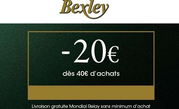 Black Friday Bexley 20€ De Remise