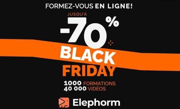 Black Friday Elephorm (formations en ligne)  : de 50% à 70% de remise sur toutes les formations