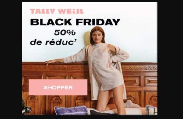 Black Friday Tally Weijl 50% De Remise En Plus Sur Tous Les Articles En Promotion