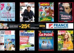 Bon plan Black Friday abonnement magazine 🔥 -25€ sur les dizaines de titres dès 40€ (ou -15€ sans minimum )