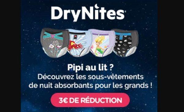 Bons De Réduction Drynites Sous Vêtements De Nuit Absorbants Et Alèses Jetables