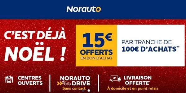 C'est Déjà Noël Norauto 15€ Offerts En Bon D'achat Tous Les 100€ D'achats