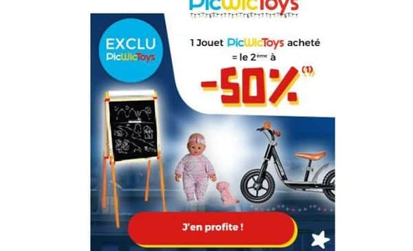 Offre Picwictoys 1 Jouet Picwictoys Acheté = 50% Sur Le Second Jouet