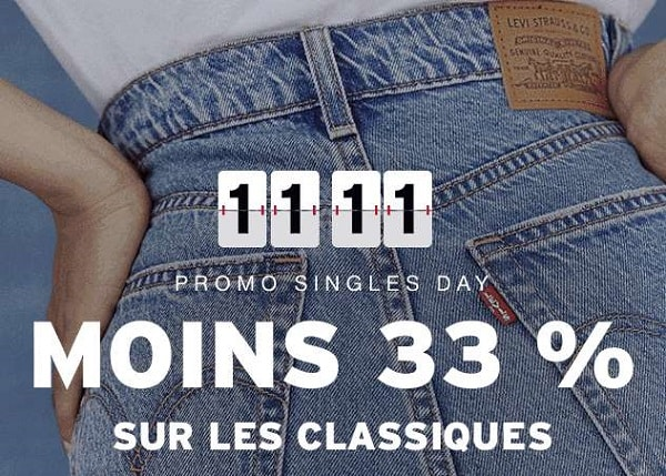Offre Single's Days Levi's