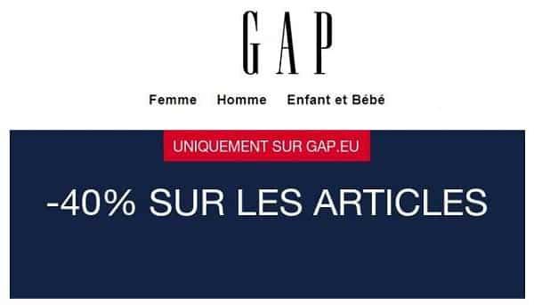 Offre Spéciale Gap 40% De Remise Sur Toutes Les Articles