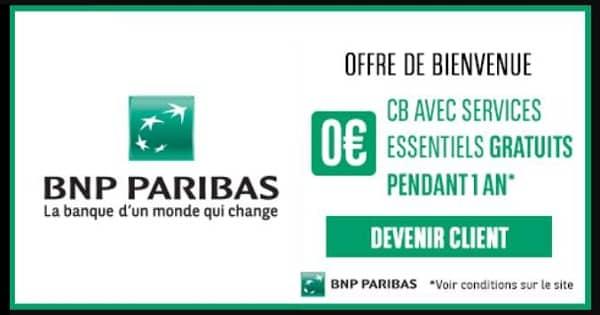 Offre Spéciale Ouverture Compte Bnp Paribas Carte + Les Services Essentiels Esprit Libre Offerts Pendant 1 An