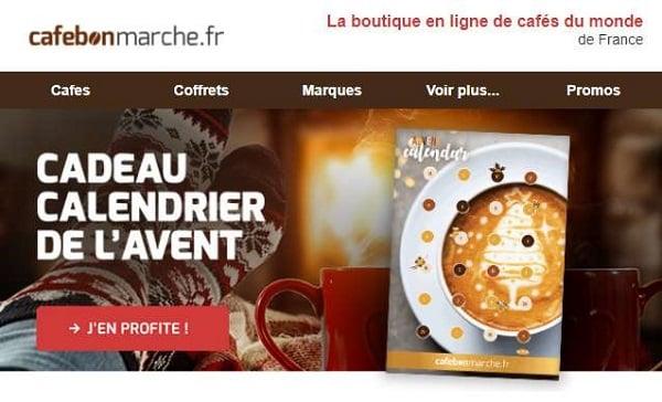 Calendrier De L'avent Gratuit Pour Toute Commande Sur Cafebonmarche