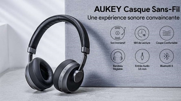 Casque Audio Sans Fil Bluetooth Aukey Ep B52 Avec Micro