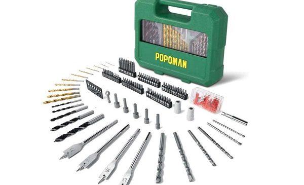 coffret de forets, embouts et mèches de 125 pièces Popoman MTH400