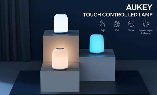 Lampe De Chevet Rechargeable Et Tactile Aukey Lt T8