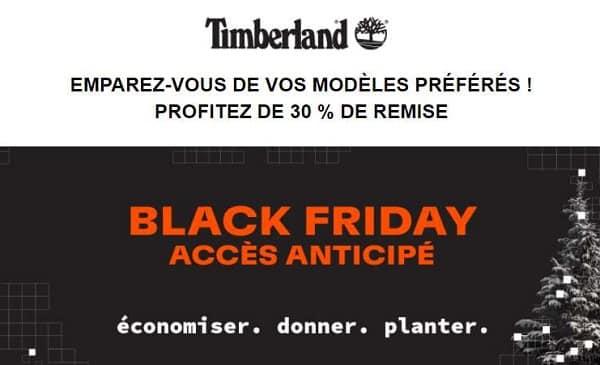 Remise Avec Le Code Accès Anticipé Timberland Black Friday