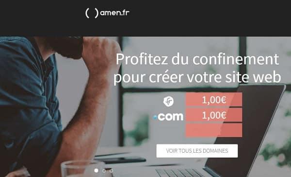 1€ Le Nom De Domaine .com .fr Avec Micro Hébergement
