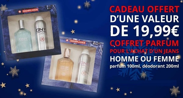 1 Jean Complice Acheté Homme Ou Femme = 1 Coffret Parfum Offert