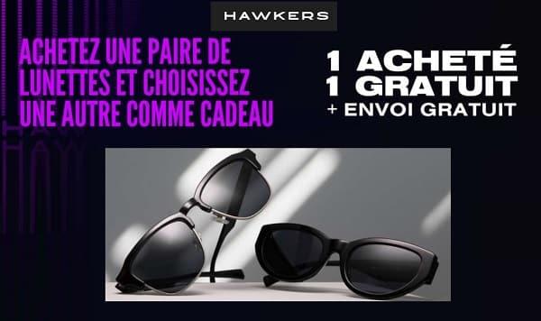 1 paire achetée = 1 paire de lunette de soleil hawkers gratuite + livraison gratuite